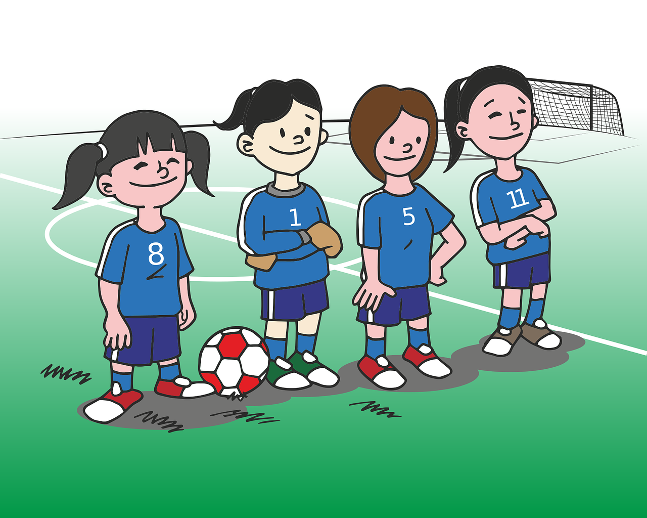 Image result for girls football cartoon